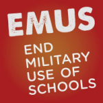 Organization logo: End Military Use of Schools (EMUS)