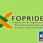 Organization logo: Federación de Organizaciones No Gubernamentales para el Desarrollo de Honduras (FOPRIDEH)
