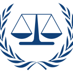 Organization logo: International Criminal Court (ICC)